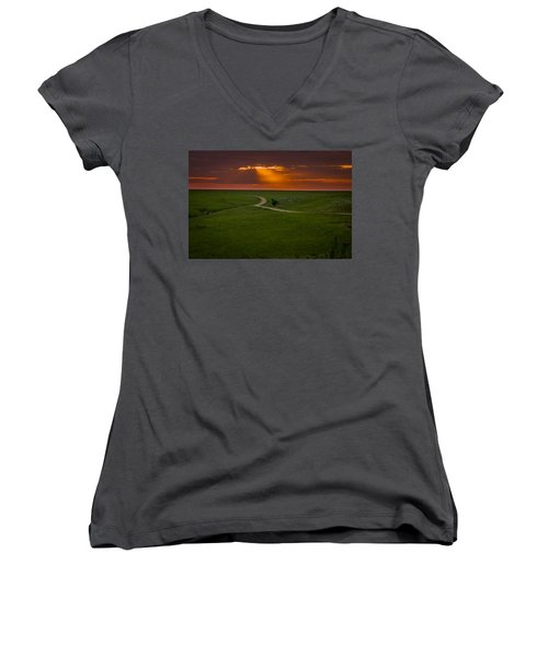 Getting Late Women's V-Neck
