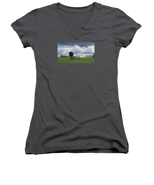 Getting Stormy Women's V-Neck T-Shirt