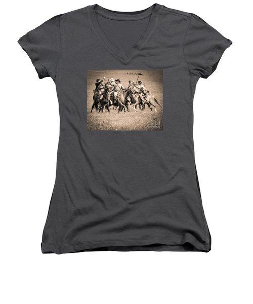 Gettysburg Cavalry Battle 7948s  Women's V-Neck