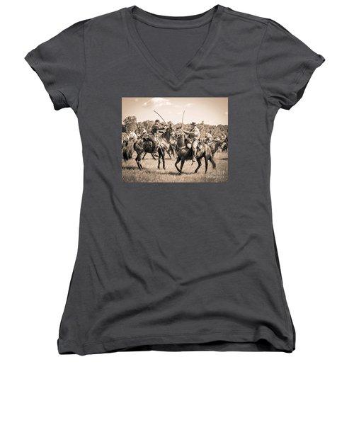 Gettysburg Cavalry Battle 7978s  Women's V-Neck