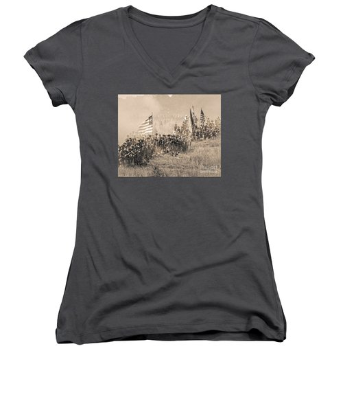 Gettysburg Union Infantry 8948s Women's V-Neck (Athletic Fit)