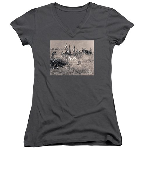 Gettysburg Union Infantry 8963s Women's V-Neck (Athletic Fit)