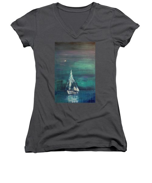 Ghost Ship Women's V-Neck (Athletic Fit)