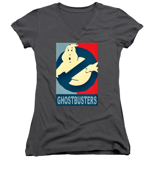 Ghostbusters Women's V-Neck (Athletic Fit)