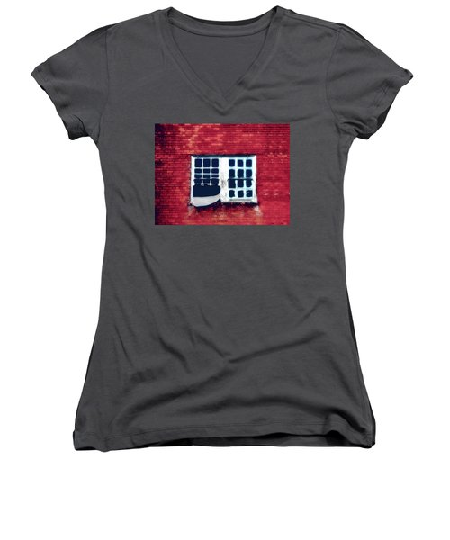 Ghostly Window Women's V-Neck T-Shirt