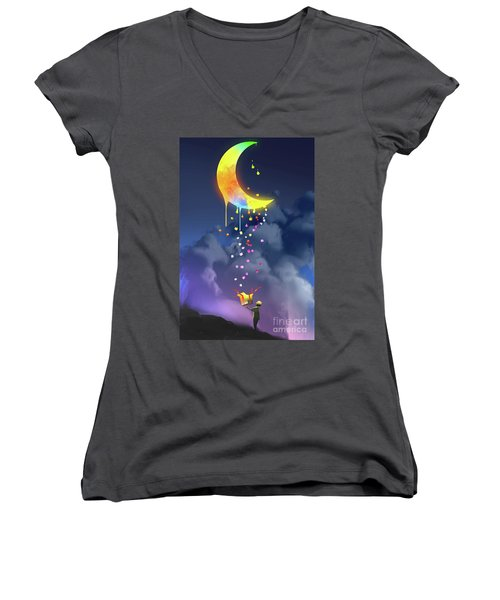Gifts From The Moon Women's V-Neck