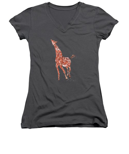 Giraffe Women's V-Neck T-Shirt