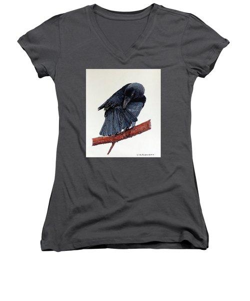 Girdie Women's V-Neck T-Shirt (Junior Cut) by Linda Becker