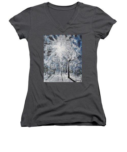 Girl In The Woods Women's V-Neck