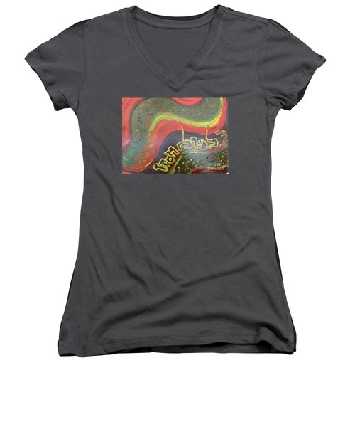 Give Thanks To The Lord  Women's V-Neck