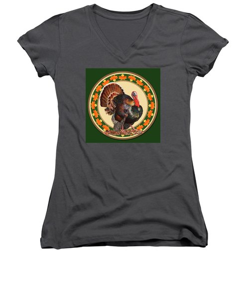 Giving Thanks Women's V-Neck (Athletic Fit)