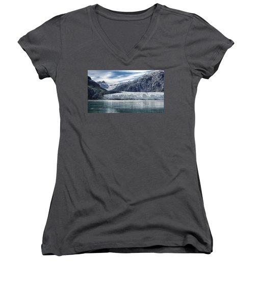 Glacier Bay Alaska Women's V-Neck T-Shirt (Junior Cut) by Gary Warnimont