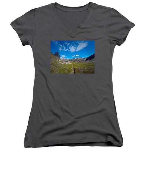 Glacier Wilderness Women's V-Neck (Athletic Fit)