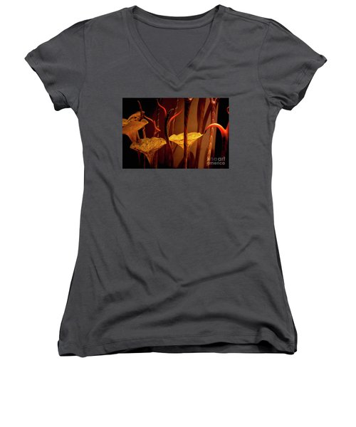 Women's V-Neck T-Shirt (Junior Cut) featuring the photograph Glass Art by Ivete Basso Photography