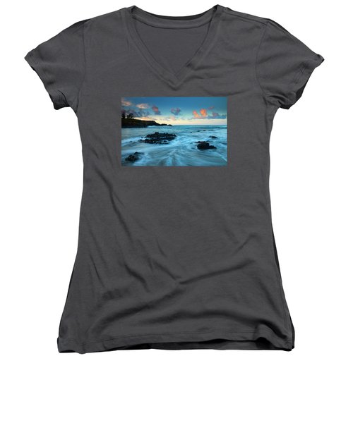 Glass Beach Dawn Women's V-Neck (Athletic Fit)