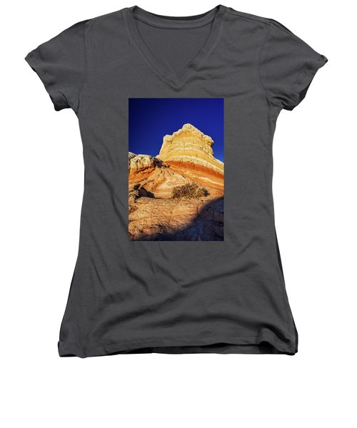 Women's V-Neck T-Shirt (Junior Cut) featuring the photograph Glimpse by Chad Dutson