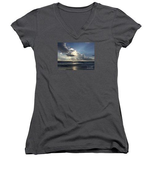 Glory Day Women's V-Neck T-Shirt (Junior Cut) by LeeAnn Kendall