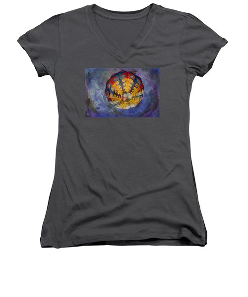 Glory Of The Sky Women's V-Neck (Athletic Fit)