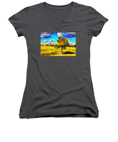Glowing Afternoon Women's V-Neck T-Shirt