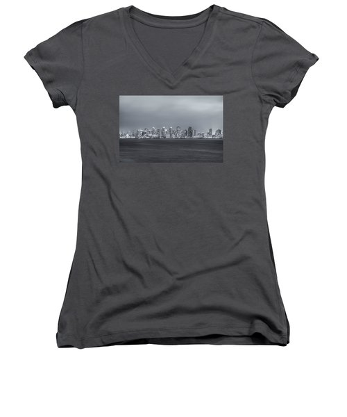 Glowing In The Night Women's V-Neck T-Shirt