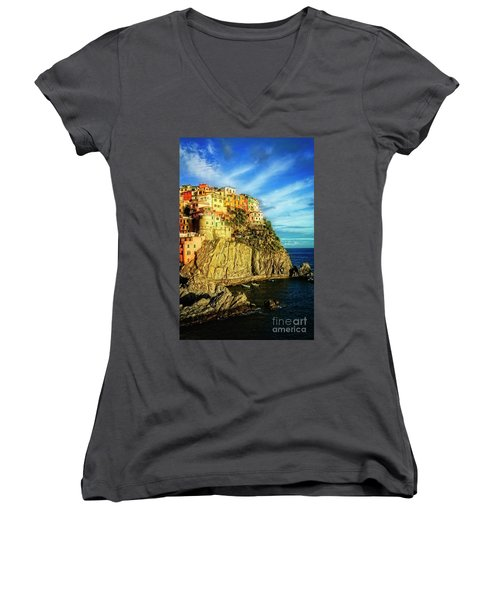 Glowing Manarola Women's V-Neck