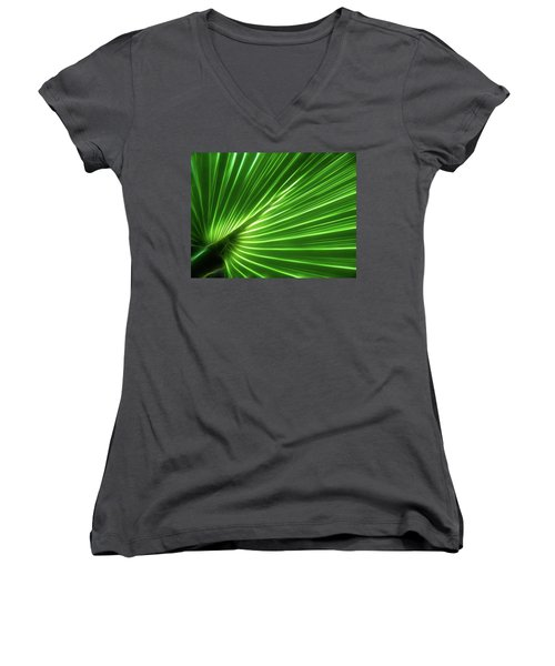 Glowing Palm Women's V-Neck