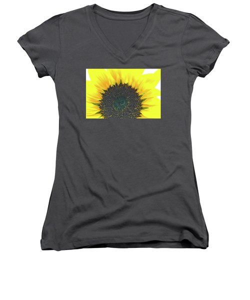 Glowing Sunflower Women's V-Neck (Athletic Fit)