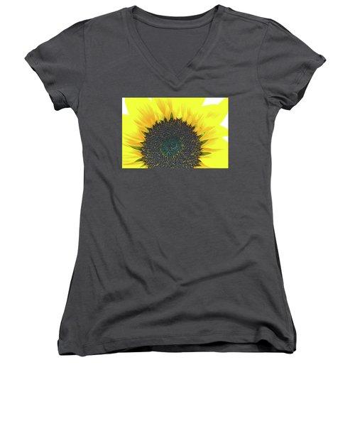 Glowing Sunflower Women's V-Neck
