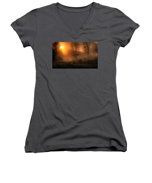 Glowing Sunrise Women's V-Neck T-Shirt