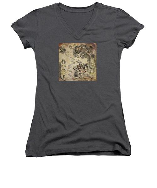 Go Ask Alice Women's V-Neck T-Shirt