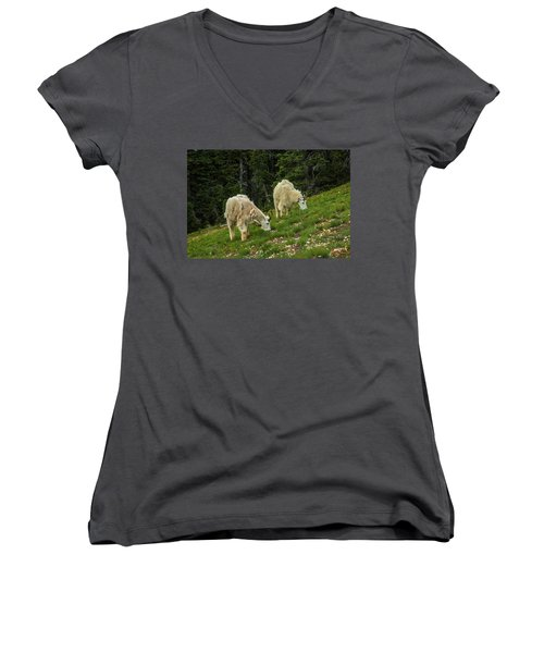 Goat Garden Women's V-Neck