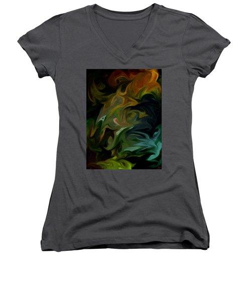 Goblinz Abstract Women's V-Neck T-Shirt