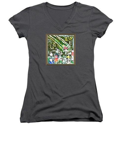 God Lives At The Children Park Women's V-Neck T-Shirt