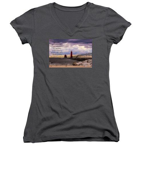 God's Lighthouse Women's V-Neck T-Shirt