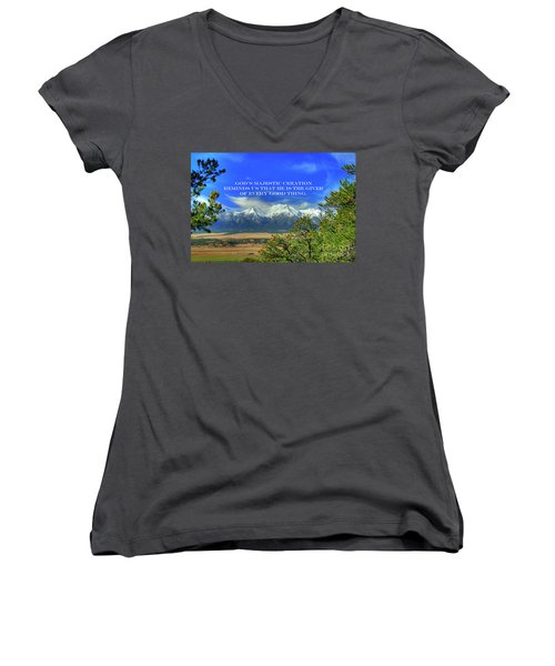 God's Majestic Creation Women's V-Neck (Athletic Fit)