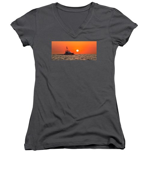 Going Fishing Women's V-Neck (Athletic Fit)
