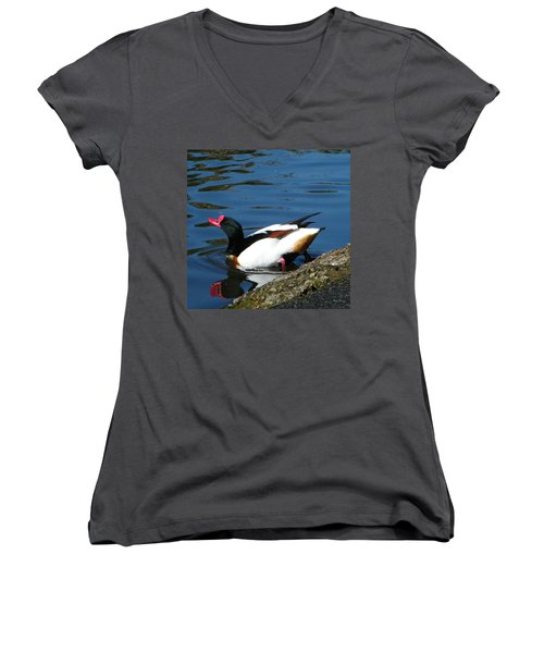 Going For A Swim Women's V-Neck (Athletic Fit)