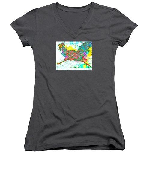 Going In Circles Women's V-Neck T-Shirt (Junior Cut) by M  Stuart