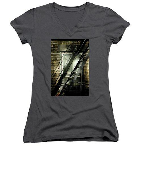 Going Up Women's V-Neck T-Shirt