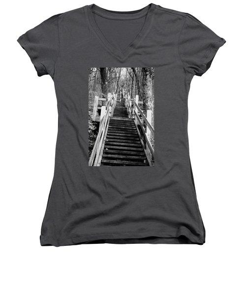 Going Up Women's V-Neck T-Shirt (Junior Cut) by Jamie Lynn
