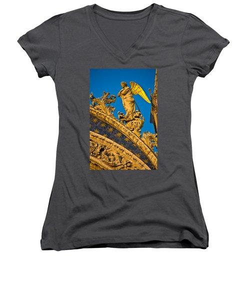 Golden Angel Women's V-Neck T-Shirt