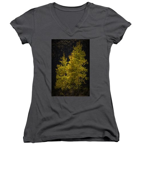 Golden Aspen Women's V-Neck T-Shirt