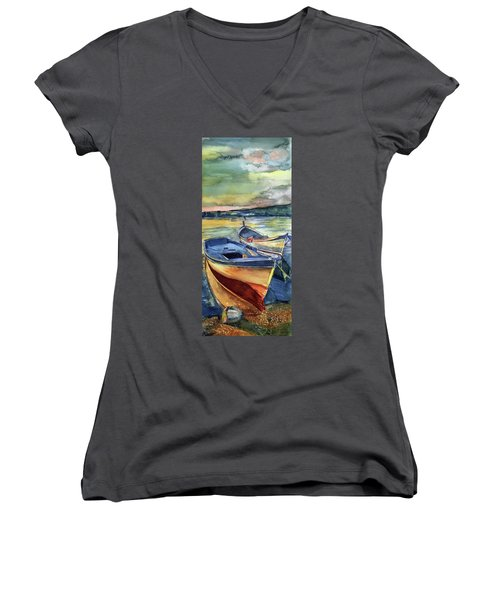 Golden Boats Women's V-Neck