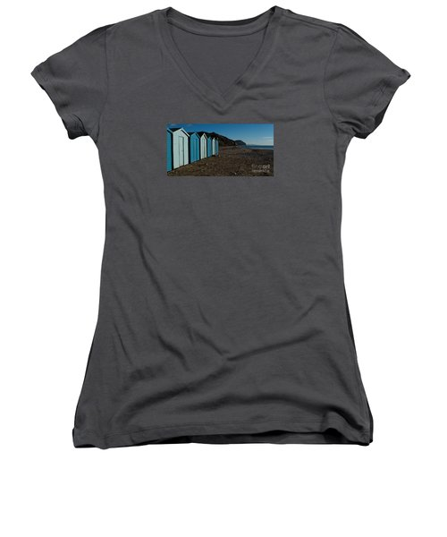 Women's V-Neck T-Shirt (Junior Cut) featuring the photograph Golden Cap by Gary Bridger