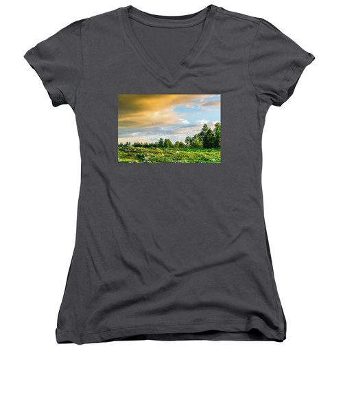 Golden Clouds Women's V-Neck