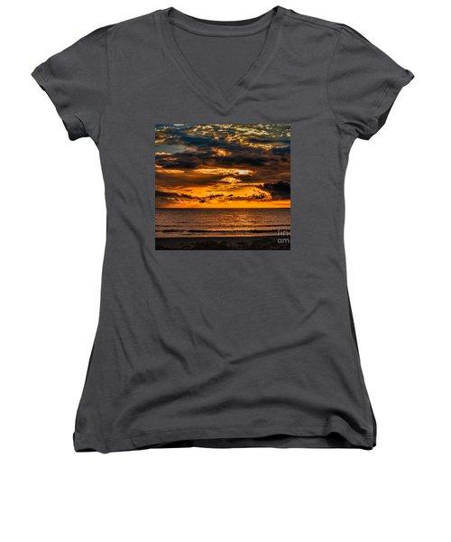 Golden Dawn Women's V-Neck T-Shirt