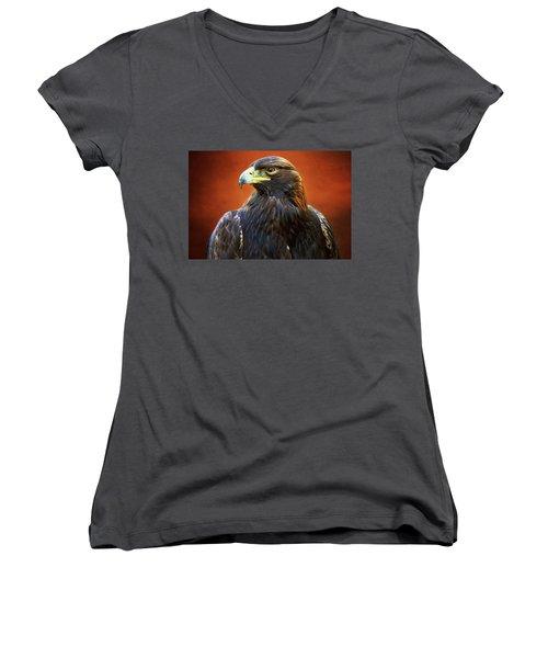 Golden Eagle Women's V-Neck T-Shirt