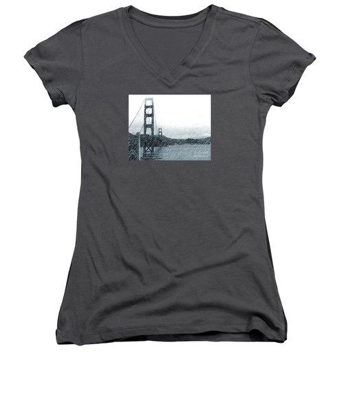 Golden Gate Blue Rain Women's V-Neck