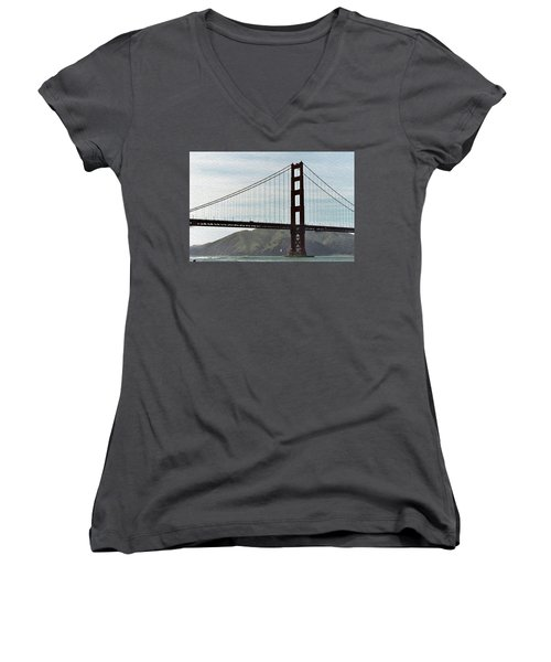 Golden Gate Bridge Women's V-Neck