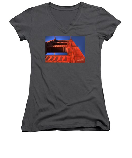 Golden Gate Tower Women's V-Neck (Athletic Fit)